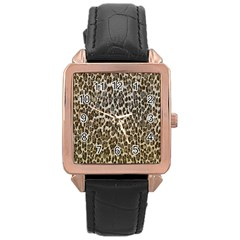 Chocolate Leopard  Rose Gold Leather Watch  by OCDesignss