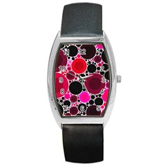 Retro Polka Dot  Tonneau Leather Watch by OCDesignss