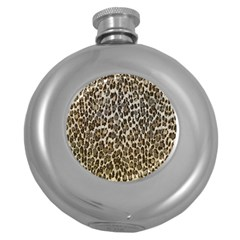Chocolate Leopard  Hip Flask (round) by OCDesignss