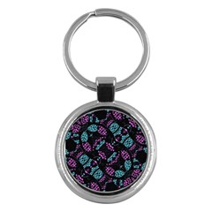 Ornate Dark Pattern  Key Chain (round) by dflcprints