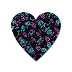 Ornate Dark Pattern  Magnet (heart) by dflcprints