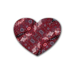 Burgundy Blues Drink Coasters 4 Pack (heart)  by OCDesignss