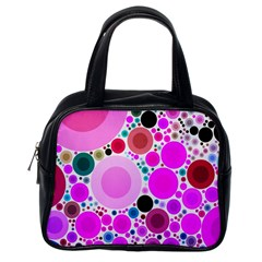 Bubble Gum Polkadot  Classic Handbag (one Side)