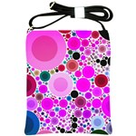 Bubble Gum Polkadot  Shoulder Sling Bag Front
