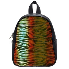 Earthy Zebra School Bag (small) by OCDesignss