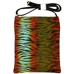 Earthy Zebra Shoulder Sling Bag by OCDesignss