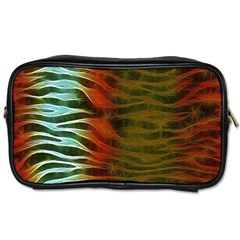 Earthy Zebra Travel Toiletry Bag (two Sides) by OCDesignss