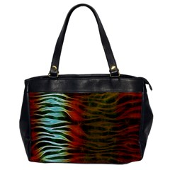 Earthy Zebra Oversize Office Handbag (one Side) by OCDesignss