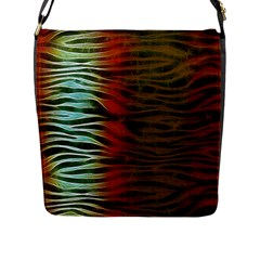 Earthy Zebra Flap Closure Messenger Bag (large) by OCDesignss