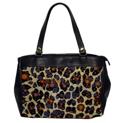 Cheetah Abstract Oversize Office Handbag (one Side) by OCDesignss