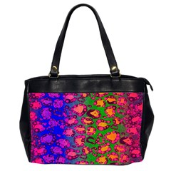 Rainbow Cheetah Oversize Office Handbag (two Sides) by OCDesignss
