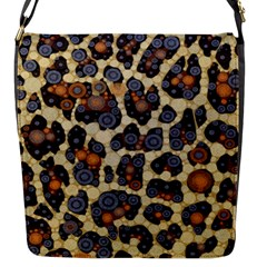 Cheetah Abstract Flap Closure Messenger Bag (small) by OCDesignss