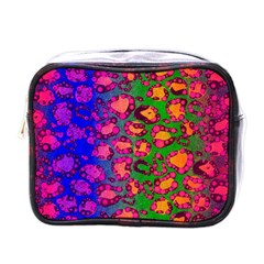 Florescent Cheetah Mini Travel Toiletry Bag (one Side)