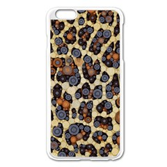 Cheetah Abstract Apple Iphone 6 Plus Enamel White Case by OCDesignss
