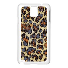 Cheetah Abstract Samsung Galaxy Note 3 N9005 Case (white) by OCDesignss