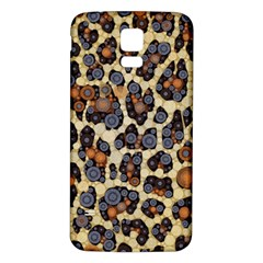 Cheetah Abstract Samsung Galaxy S5 Back Case (white) by OCDesignss