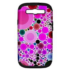 Bubble Gum Polkadot  Samsung Galaxy S Iii Hardshell Case (pc+silicone) by OCDesignss