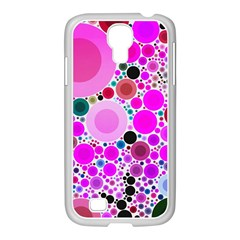 Bubble Gum Polkadot  Samsung Galaxy S4 I9500/ I9505 Case (white) by OCDesignss
