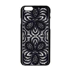 Twisted Zebra  Apple Iphone 6 Black Enamel Case