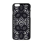 Twisted Zebra  Apple iPhone 6 Black Enamel Case Front