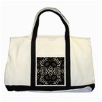 Twisted Zebra  Two Toned Tote Bag Front