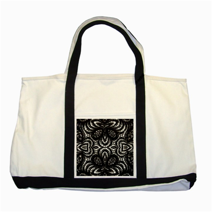 Twisted Zebra  Two Toned Tote Bag