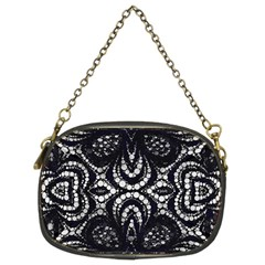 Twisted Zebra  Chain Purse (two Sided)