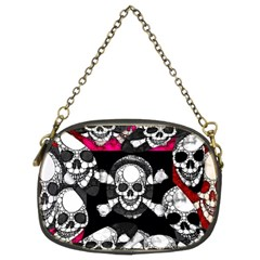 Metal Bling Skulls  Chain Purse (two Sided)  by OCDesignss