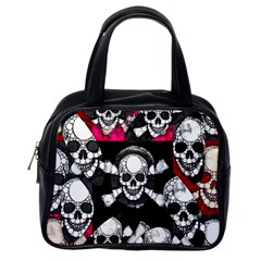 Metal Bling Skulls  Classic Handbag (one Side) by OCDesignss