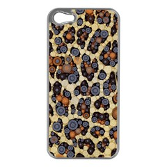 Cheetah Abstract Apple Iphone 5 Case (silver) by OCDesignss