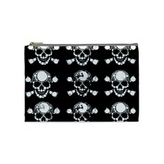 Skull Bling Cosmetic Bag (medium)