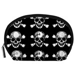 Skull Bling Accessory Pouch (Large) Front