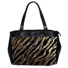 Gold Zebra  Oversize Office Handbag (two Sides)