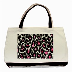 Pink Cheetah Bling Twin-sided Black Tote Bag by OCDesignss