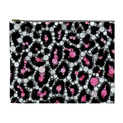 Pink Cheetah Bling Cosmetic Bag (xl) by OCDesignss