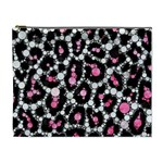 Pink Cheetah Bling Cosmetic Bag (XL) Front