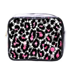 Pink Cheetah Bling Mini Travel Toiletry Bag (one Side) by OCDesignss