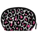 Pink Cheetah Bling Accessory Pouch (Large) Back
