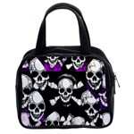 Purple Haze Skull And Crossbones  Classic Handbag (Two Sides) Front