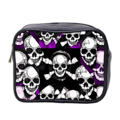Purple Haze Skull And Crossbones  Mini Travel Toiletry Bag (two Sides) by OCDesignss