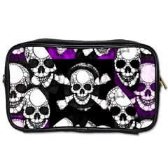 Purple Haze Skull And Crossbones  Travel Toiletry Bag (two Sides) by OCDesignss