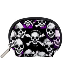 Purple Haze Skull And Crossbones  Accessory Pouch (small) by OCDesignss