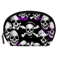 Purple Haze Skull And Crossbones  Accessory Pouch (large) by OCDesignss