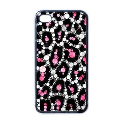 Pink Cheetah Bling Apple Iphone 4 Case (black) by OCDesignss