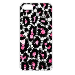 Pink Cheetah Bling Apple Iphone 5 Seamless Case (white) by OCDesignss