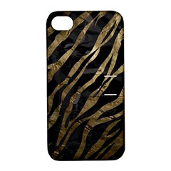 Gold Zebra  Apple Iphone 4/4s Hardshell Case With Stand by OCDesignss