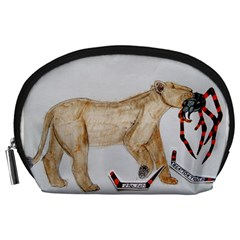 Giant Spider Fights Lion  Accessory Pouch (large)