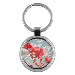 Flowers In The Sky Key Chain (round) by dflcprints