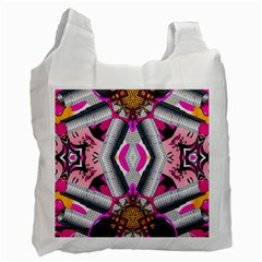 Fashion Girl White Reusable Bag (one Side) by OCDesignss