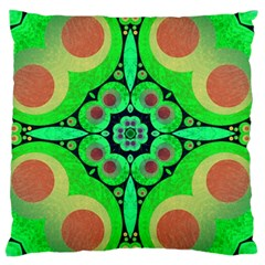 Neon Green  Large Cushion Case (single Sided)  by OCDesignss